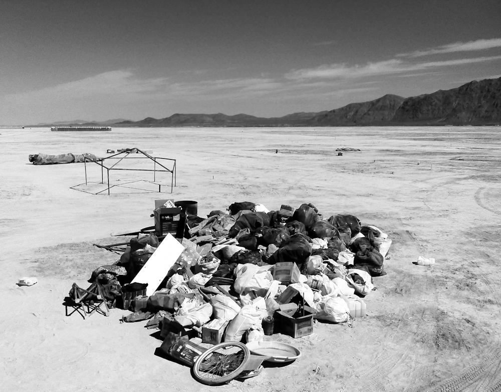 Gypsy Flower Power abandoned moop, Burning Man 2014